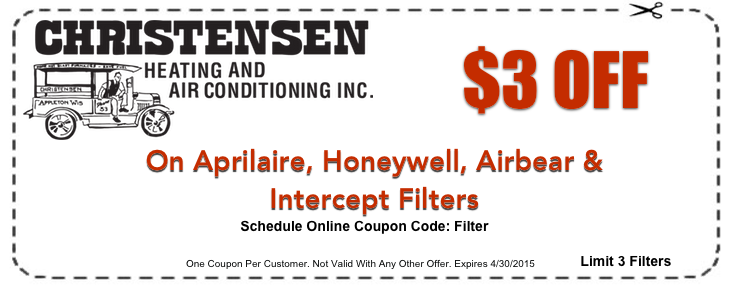 Furnace Filter Coupons Appleton Wi Heating And Cooling